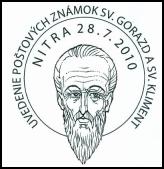 Uvedenie poštových známok S. Gorazd a sv. Kliment