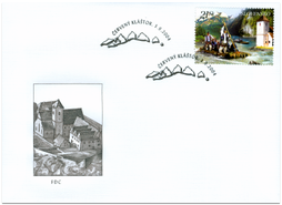 Raftmen on  the Dunajec River - Polish - Slovak common issue - FDC