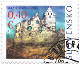 Castle of Topolčany: stamp with personalised coupon