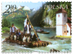 Raftmen on  the Dunajec River - Polish - Slovak common issue