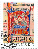 Christmas 2010: Initial with the Birth of Christ from Bratislava Mass-book