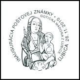 Inaugurácia poštovej známky Umenie: Gotická madona z Ľubice