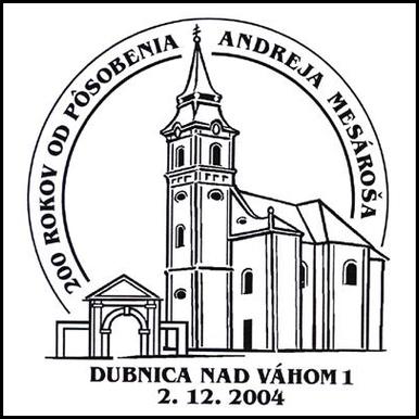 200 rokov od pôsobenia Andreja Mesároša