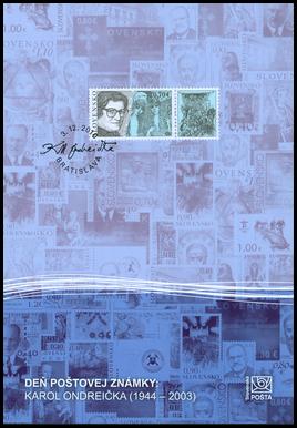 The Day of Postage Stamp: Karol Ondreička (1944 - 2003)