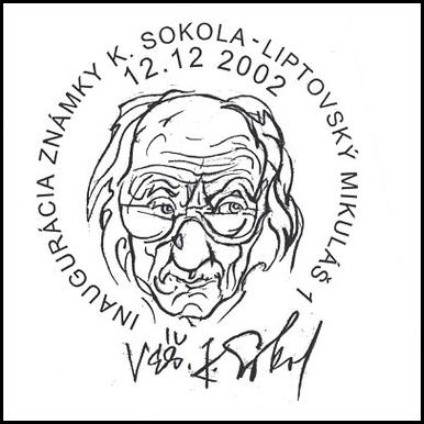 Inagurácia známky K. Sokola