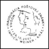Inaugurácia poštovej známky Imrich Weiner - Kráľ