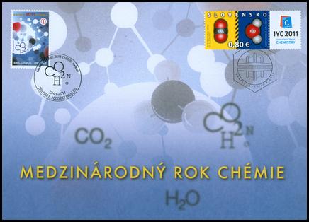 Medzinárodný rok chémie 2011/Pamätný list Belgickej pošty