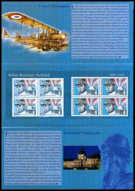 "Milan Rastislav Štefánik  ""France - Slovak Joint Issue"""