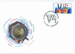 Numismatic Cover: 20th Anniversary of the Foundation of the Visegrad Group