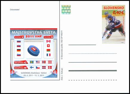 Šport: Majstrovstvá sveta v ľadovom hokeji 2011 s prítlačou