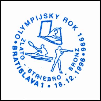 """""""Olympijský rok 1996 - Slávnostné zhromaždenie ku dňu Slovenskej poštovej známky"""""""
