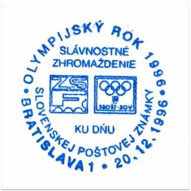 """Olympijský rok 1996 - zlato-streiebro-bronz"""