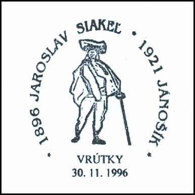 """1896 - Jaroslav Siakel - 1921- Jánošík"""