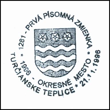 Prvá písomná zmienka Turčianske Teplice 1281-1996
