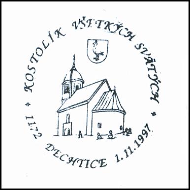 """""""Kostolík všetkých svätých Dechtice 1172-1997"""""""
