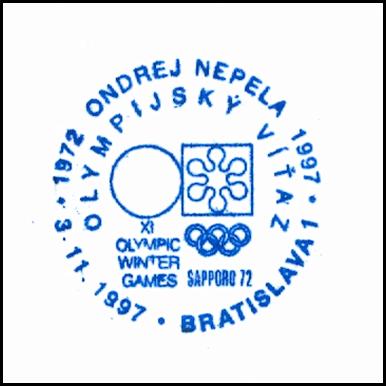 """""""1972 Ondrej Nepela 1997 Olympijský víťaz Saporo 1972"""""""