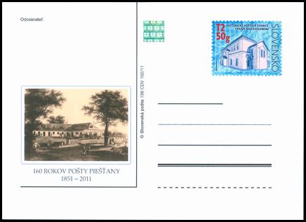 160th. Anniversary of Piešťany's Post Office