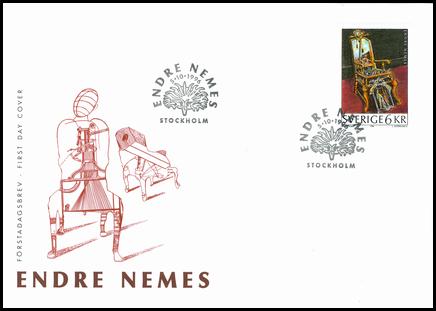 Endre Nemes - Švédske vydanie FDC