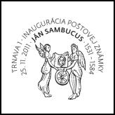 Inaugurácia poštovej známky Ján Sambucus (1531 - 1584)
