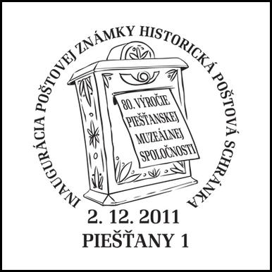 Inaugurácia poštovej schránky - Historická poštová schránka