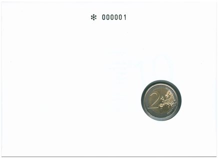 Numizmatická obálka: 10 rokov eura