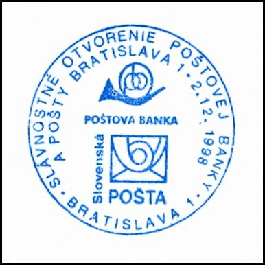 """""""Slávnostné otvorenie Poštovej banky a pošty Bratislava 1"""""""