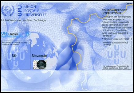 """Medzinárodná odpoveďka - model """"Nairobi"""" (platná do 31. 12. 2013)"""