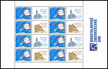 Tlačový list známky s personalizovaným kupónom - Bratislavské zberateľské dni 2012