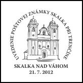 Uvedenie poštovej známky Skalka pri Trenčíne