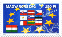 Entry to the EU - Hungary (2 stamps)