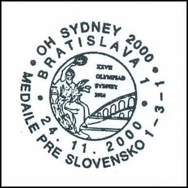 """OH Sydney 2000 medaile pre Slovensko 1-3-1"""
