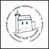 Inagurácia poštovej známky Klížske Hradište - Kostol sv. Michala Archanjela