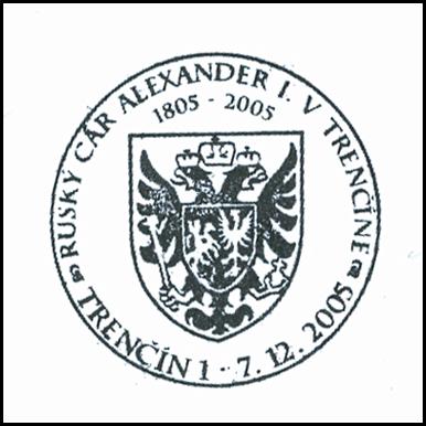 Ruský cár Alexander I. v Trenčíne