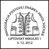 Inaugurácia poštovej známky - Pavol Socháň