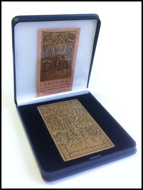 """Plaketa poštovej známky """"400. výročie konania Žilinskej synody"""""""