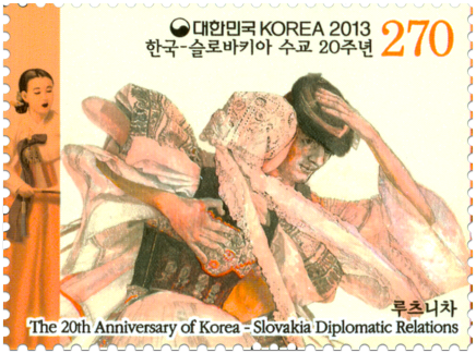 Joint Issue with Korea: National Costumes - Lúčnica Art Ensamble
