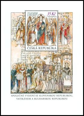 1150. výročie príchodu sv. Cyrila a Metoda na Veľkú Moravu. České vydanie