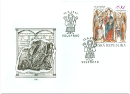 The 1150th Anniversary of the Arrival of St. Cyril and Methodius to Great Moravia. FDC - Czech Republic.