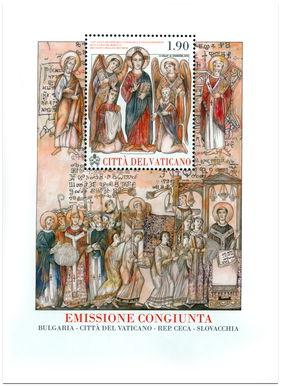 1150. výročie príchodu sv. Cyrila a Metoda na Veľkú Moravu. Vatikánske vydanie.