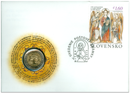 Numismatic Cover: The 1150th Anniversary of the Arrival of St. Cyril and Methodius to Great Moravia