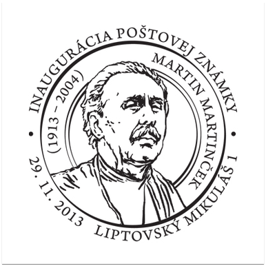 Inaugurácia poštovej známky Martin Martinček