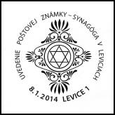 Uvedenie poštovej známky - Synagóga v Leviciach