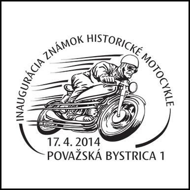 Inaugurácia poštových známok Historické motocykle