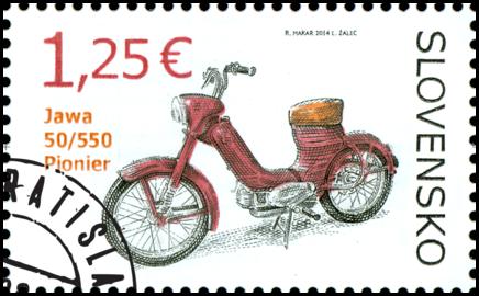 Technické pamiatky: Historické motocykle – Jawa 50/550 Pionier
