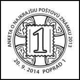 Anketa o najkrajšiu poštovú známku roku 2013