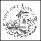 Inaugurácia poštovej známky: Alojz Stróbl