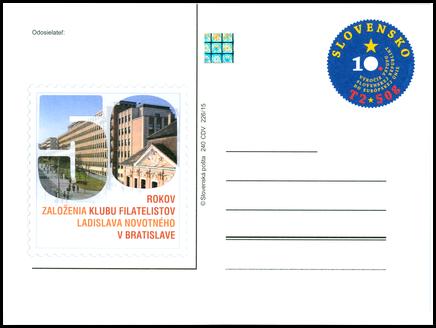 50. výročie založenia klubu filatelistov L. Novotného