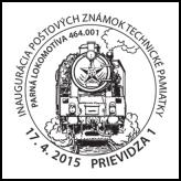 Inaugurácia poštových známok: Technické pamiatky - Parná lokomotíva