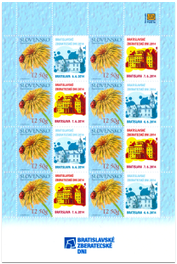 Print Sheet of Stamp with personalized coupon - Bratislava Collectors Days 2014