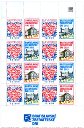 Print Sheet of Stamp with personalized coupon - Bratislava Collectors Days 2015